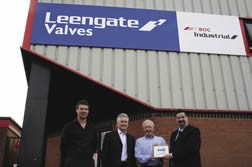 Mick Loseby, Steve Pickering and Philip Oldham of Leengate Valves