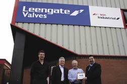 Mick Loseby, Steve Pickering and Philip Oldham of Leengate Valves