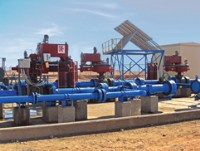 General view of the UVS�1 emergency plant centre, showing the three Rotork Skilmatic EH electro-hydr