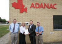 From left to right: Neil West, Adanac Engineering Director, Susan Ball,Adanac Managing Director, All