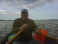 Dale Kingfisher of Adanac,  Pike fishing on Hickling Broad (Norfolk Broads).