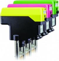 Linear valve actuator family (left to right: ExRun, RedRun and InRun)