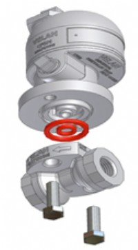 Velan's new universal steam trap with standardized connection fitting.