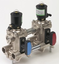 ASCO Numatics 290 Series pneumatic valves are available as single valve 2/2 modules for individual use, or two valve 2/2 modules for feed and return applications