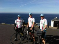 How about the entire length of the country?  These really Mad Hatters cycled all the way from Lands End to John O�Groats � a whopping 924 miles!  Pictured at the start of their epic trip are Adam Green, Gary Parkinson and John Kinirons, who bravely endured nine days of torture to raise funds for BVAA�s favourite charity, CLIC Sargent.