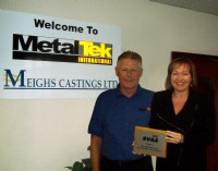 Peter O'Reilly and Angela Taylor at MetalTek International (Meighs Castings)