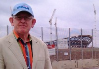 ITT Flow Control Ltd�s Roger Bartlett (no relation) first in queue for tickets at the new Olympic park near Hackney Marshes.