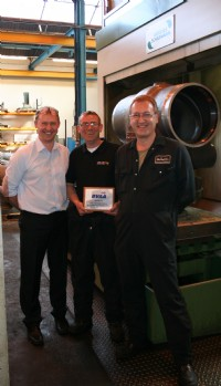 Neil Dracup, Tony Tynan and Chris Fielding at Valvetek Machining Ltd