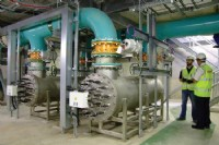The state-of-the-art, low pressure Ultra Violet disinfection plant installed at Cwellyn