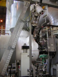 Expansion turbine installation equipped with a Rotork IQML actuator