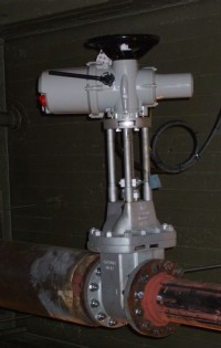 The new valve and actuator installation at the University of Glasgow