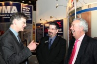 Malcolm Scott, Rob Bartlett and Bill Whiteley share a joke at Valve World
