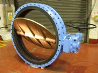 "One of the 60"" bore butterfly valves"