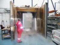 Environmental chamber after completion of -65°C testing