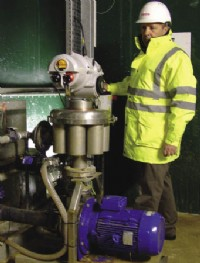 The Rotork actuated automatic backwashing filter installation at Wessex Water's Weymouth STW