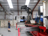 New CNC machinery being installed, part of a �150k investment