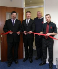 BVAA�s Rob Bartlett and the Adanac team open the new sales office