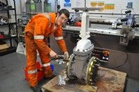 Peter McKay, new Apprentice Valve Engineer at CVS' Aberdeen workshop facility