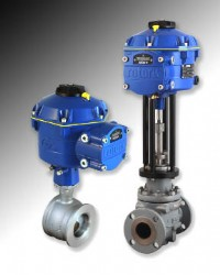 Rotork CVA all-electric control valve actuators (available in rotary and linear actions)