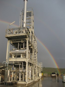 General view of one of the gas