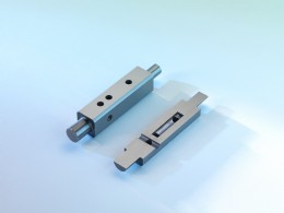 Tungsten carbide components produced by the IntraformTM process with sectioned piece detailing internal chambers