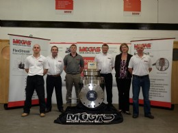 The Mogas team, from left to right: Jason Stevens, Gerard Breen, Alex Pollock, Richard Glover, Jane Pitchford and Dean Roberts