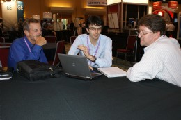 The delegate lunch area was a welcome spot for networking and post-workshop debate.