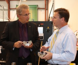 (L-R) Conservative MP Andrew Bingham visits MD of Pressure Tech, Steve Yorke-Robinson