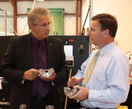 (L-R) Conservative MP Andrew Bingham visits MD of Pressure Tech, Steve Yorke-Robinson