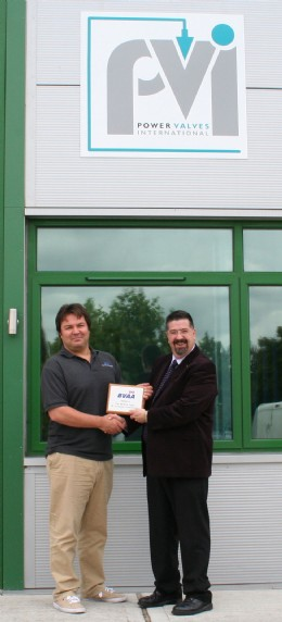 Julian Cullip Power Valves International receives his BVAA Member plaque from Rob Bartlett