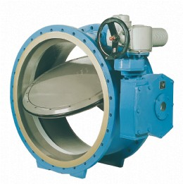 DN 1800 valve shown with epoxy resin internal lining (Epasfill)