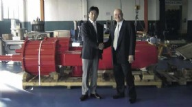 Toru Aoki, General ManagerTomoe Valve Japan and StuartJenkins, Rotork Sales ManagerJapan & Korea.