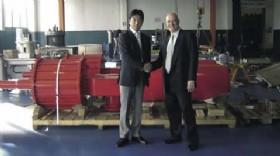 Toru Aoki, General ManagerTomoe Valve Japan and StuartJenkins, Rotork Sales ManagerJapan & Korea.