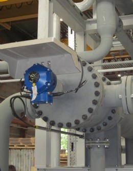 The completed CVA actuator installation