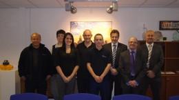 Left to Right: Jason Richards, Teresa Cooke, Sarah Warrington, Steve Devon, Jack McEvoy, Peter Burnett, Ian Edwards, Andrew Will