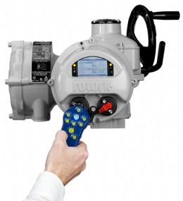 Wireless two-way communication using the nonintrusive hand held setting tool is a secure way of programming the actuator and accessing asset management data.