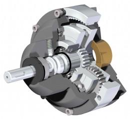 Cutaway diagram of the Rotork DSIR gearbox