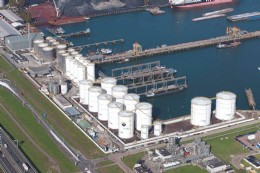 Aerial view of the Botlek Tank Terminal
