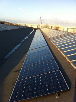 Heap & Partners first lot of 45 solar panels installed at their factory in Birkenhead