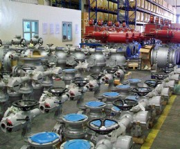 Rotork IQ and EH actuated valve packages ready for shipment to the Emarat Fujairah Terminal.