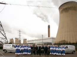 Members of Exeeco APS�s team of specialised power industry and actuation engineers pictured at the Drax Power Station