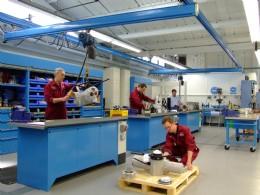 Actuators undergoing repair at Rotork Site Services