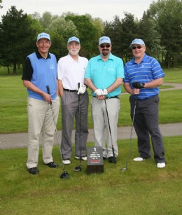 The 'BVAA Team' – Martin Greenhalgh, Geoff Newman, Rob Bartlett and Neil Kirkbride – who despite having two rank amateurs - didn't win the wooden spoon!