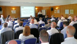 NOF Energy's George Rafferty addressing the BVAA Conference
