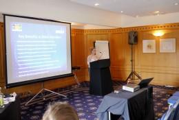 NOF Energy�s Joanne Leng, MBE, highlighting the Key benefits to BVAA Members