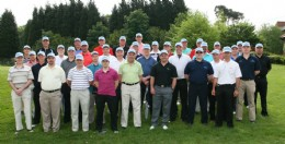 The largest number of 'Hatters' yet seen line up at the BVAA Golf Day