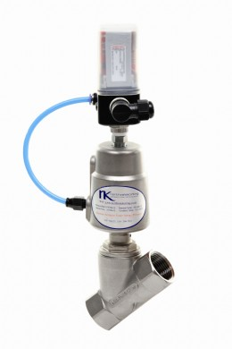 Northvale Korting stainless steel Modulating Angle Valve with I to P 4 to 20 milliamp positioner