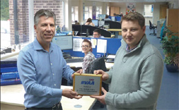 Peter Wright (MD) and Dan Stafford (UK Sales Manager Process) of ISIS Fluid Control Ltd with their BVAA member plaque.