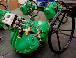 Actuator packages, consisting of K-Tork actuators, Rotork ILG-D gearboxes and smart positioners, ready for delivery to site