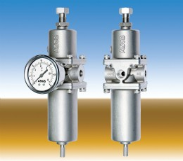 ASCO Numatics Series 342 Filter Regulators have a fully stainless steel construction and comply with the requirements of ASTM A351/NACE MR 01.75